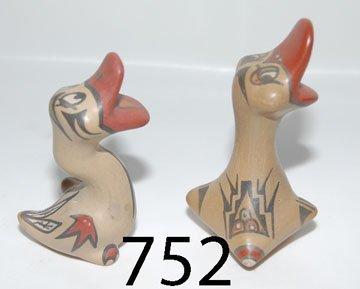752: TWO SANTA CLARA POTTERY FIGURES