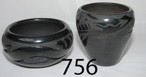 756: TWO SANTA CLARA POTTERY ITEMS