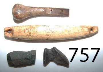 757: FOUR ESKIMO TOOLS