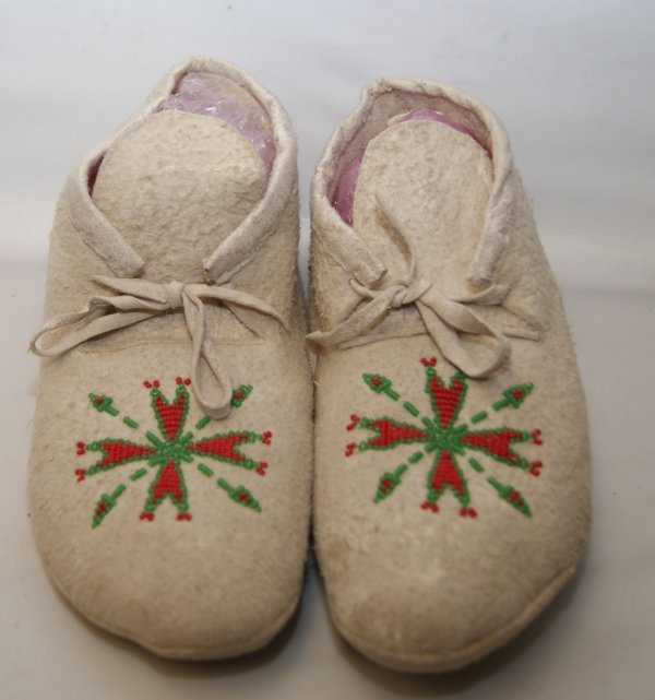 2: Plains beaded moccasins