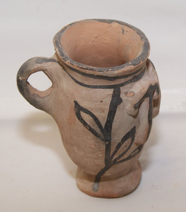 16: Tesuque pottery cup