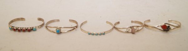 24: five Navajo children's bracelets
