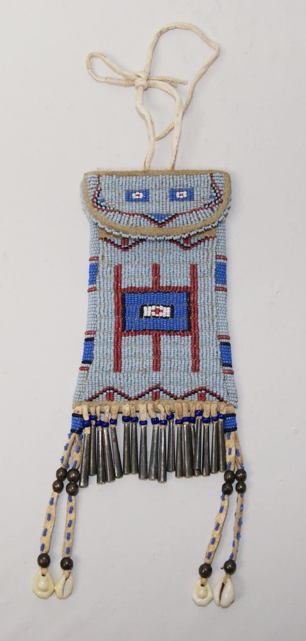 3: PLAINS BEADED POUCH