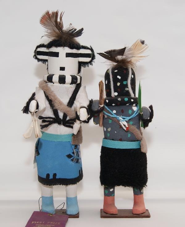6: Two Zuni Kachinas