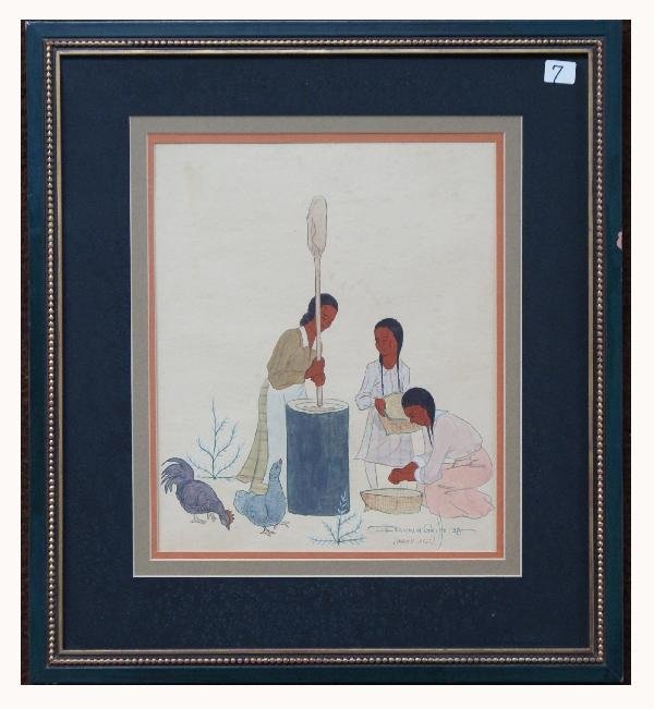 7: Cherokee/Potawatomi Painting