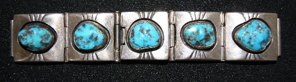 261: Navajo Silver Watch Band