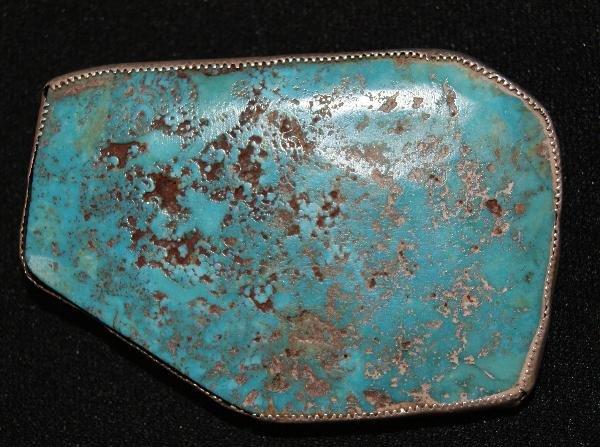 263: Navajo Silver Belt Buckle
