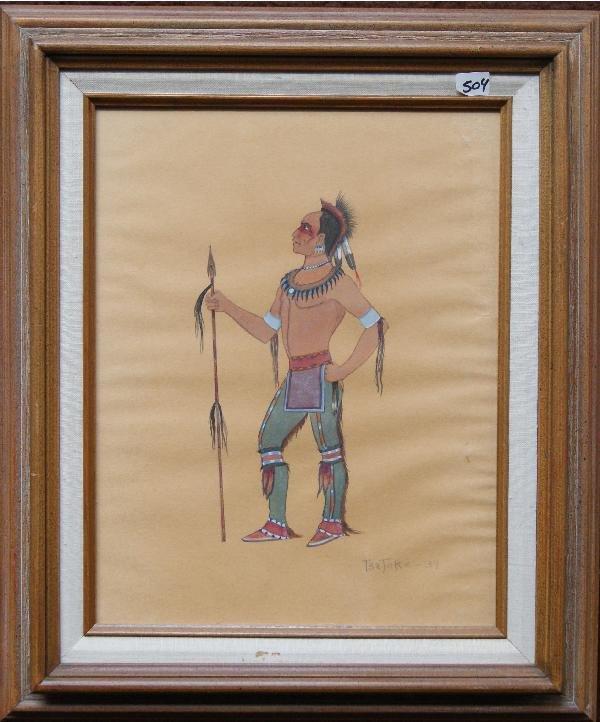 504: Kiowa Watercolor Painting