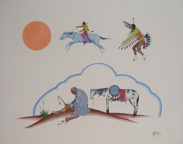 521: Cherokee Watercolor