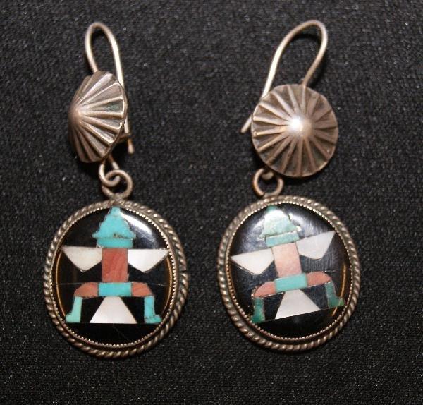 766: Pair of Zuni Earrings