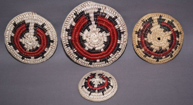 1: FOUR NAVAJO WEDDING BASKETS