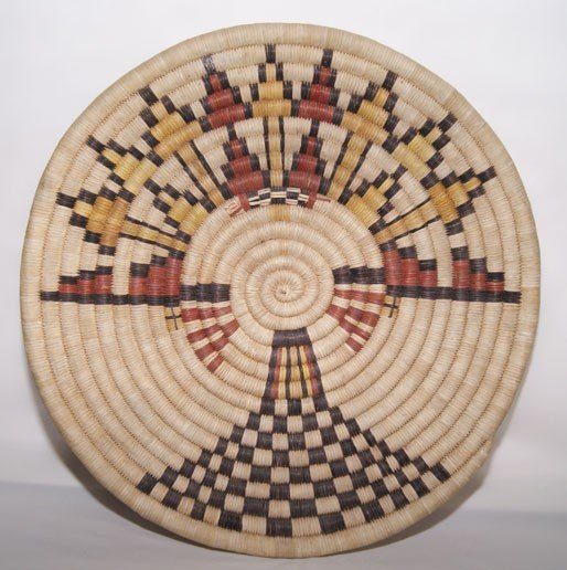 265: HOPI BASKETRY PLAQUE