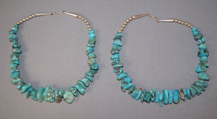 17: TWO NAVAJO TURQUOISE NECKLACES