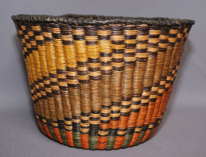 255: HOPI WICKER BASKET
