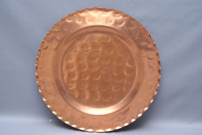 5: LARGE COPPER SERVING TRAY