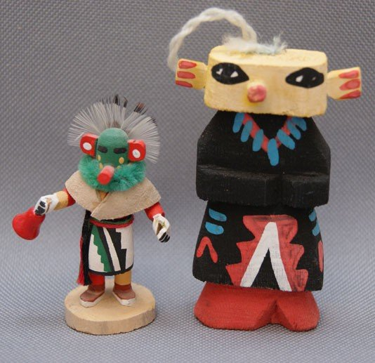 23: TWO MINIATURE KACHINAS