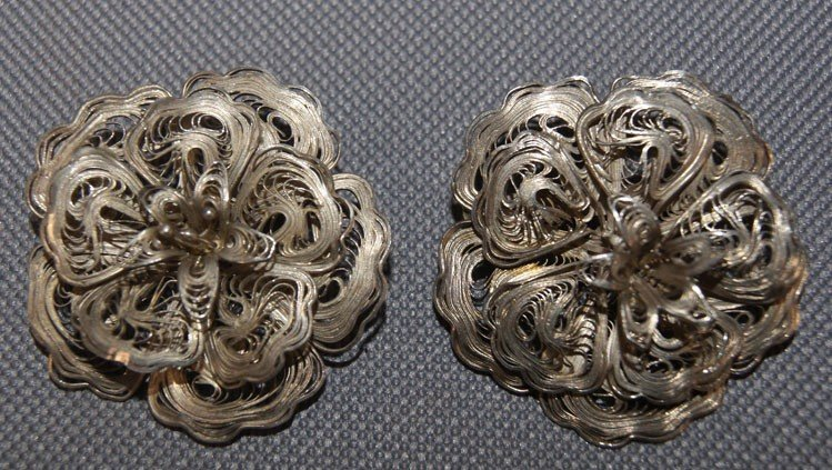 17: TWO STERLING SILVER PINS