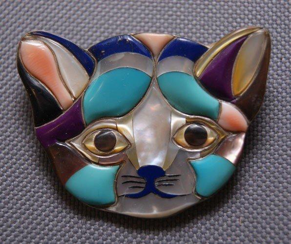 4: Zuni silver pin