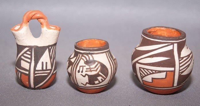 6: Three Acoma mini pots