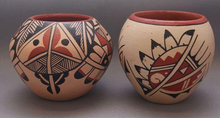 8: two Jemez pottery bowls