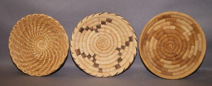 16: 3 Papago basketry trays