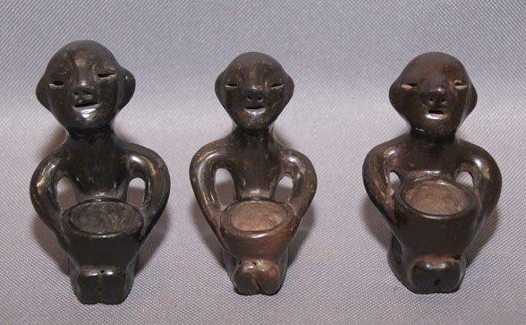17: 3 Tesuque pottery rain Gods