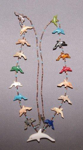 23: Zuni fetish necklace