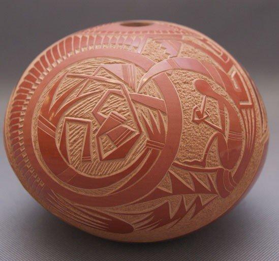 29: Santa Clara pottery seed jar