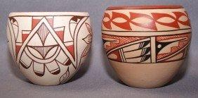 TWO JEMEZ POTTERY JARS