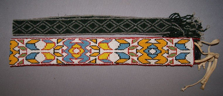 20: TWO PLAINS BEADED STRIPS