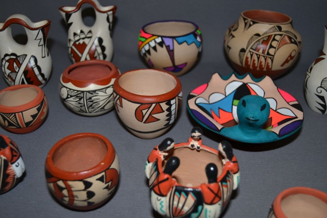 COLLECTION OF JEMEZ POTTERY - 4