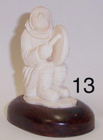 13: ESKIMO IVORY FIGURE