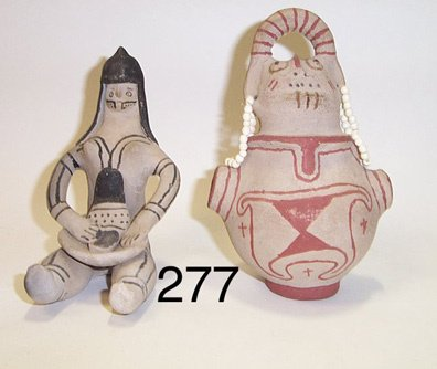 277: TWO MARICOPA POTTERY FIGURES
