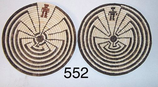 552: TWO PAPAGO BASKETRY TRAYS