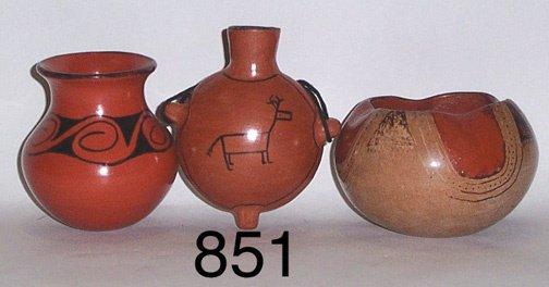 851: THREE MARICOPA POTTERY ITEMS