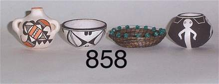 858: FOUR INDIAN ITEMS