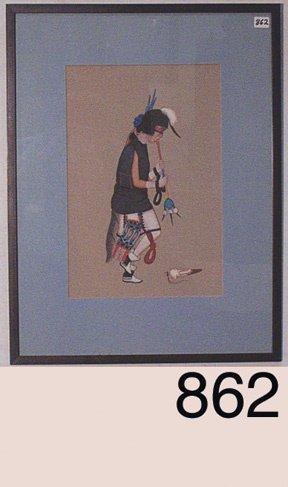 862: NAVAJO PAINTING