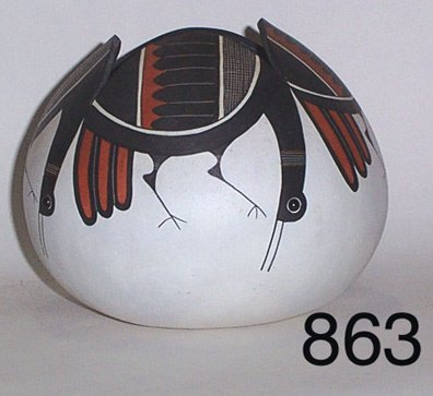 863: NEW MEXICAN PAINTED GOURD