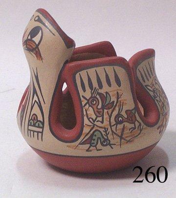 260: SANTA CLARA POTTERY EFFIGY BOWL
