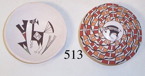 513: TWO ACOMA POTTERY ITEMS