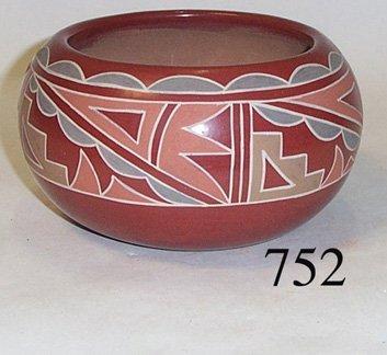 752: SANTA CLARA POTTERY BOWL