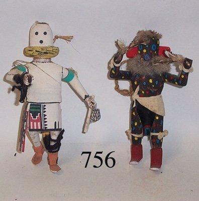756: TWO HOPI KACHINAS