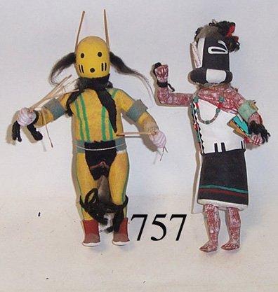 757: TWO HOPI KACHINAS