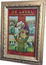 De Laval Cream Separator Tin Sign Red Version Gesso