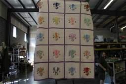 """Handmade Quilt - Lady Design w/ Lavender Backside - 88"""""""