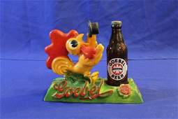 Goebel Beer 3D Advertising Piece w/ Bottle Holder and