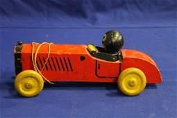 Vintage Speedy Felix The Cat WOODEN BOBBING action Car