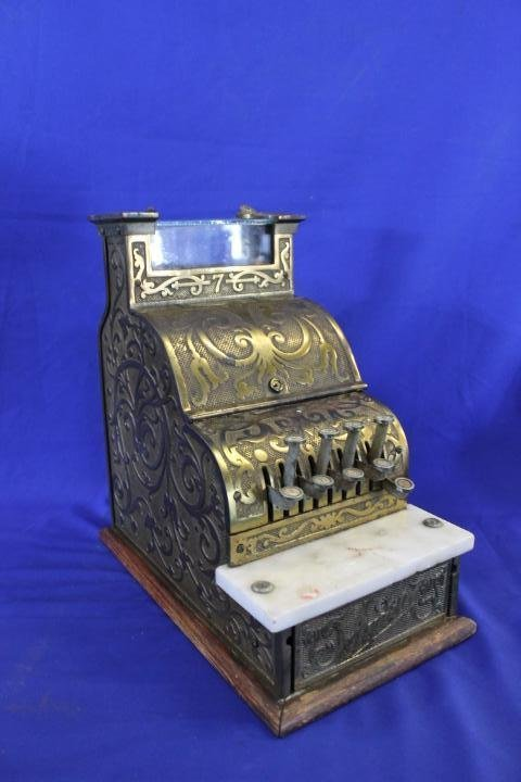 Ornate 1913 Audit Brass Plate Candy Store Cash Register