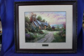 "Thomas Kinkade Framed Print ""a Peaceful Time"" 36.5"" X"