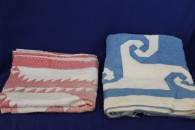 Lot Of 2 Handmade Quilts